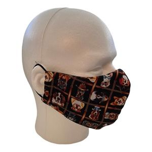 Face Mask Triple Layer 3-Layers Funny Dogs Print